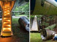 Il crée sa maison dans un Boeing 727 en pleine forêt