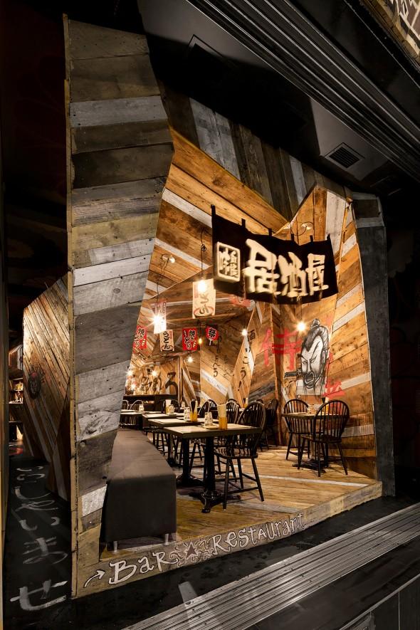 Izakaya kinoya un restaurant à montréal qui a décor
