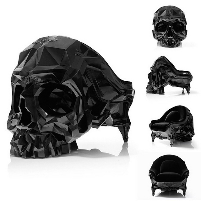 La Skull Armchair Un Fauteuil Aust 232 Re En Forme De Cr 226 Ne
