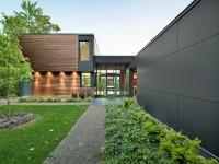 La Maison T située dans les Cantons de l'Est offre de magnifiques échappées visuelles