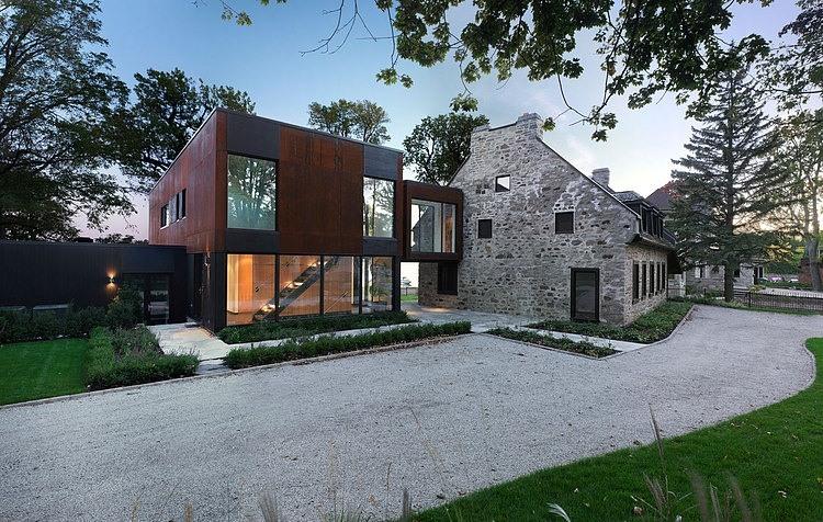 Extension Moderne Sur Maison Ancienne OH22 | Montrealeast