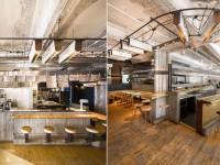 Le bar restaurant Furco à Montréal – Un décor industriel qui joue sur le jeu des reflets pour éclairer et donner un cachet unique