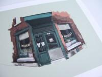 Un illustrateur dessine 10 commerces/lieux pour partager la beauté de Montréal