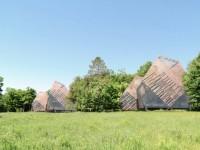 Une proposition de chalets inspirés par les habitations amérindiennes d'autrefois