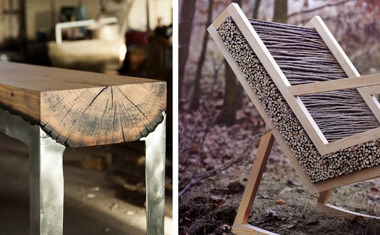 5 designers qui utilisent le bois brut dans la cr ation de for Chaise fer et bois