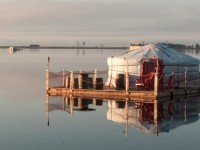 Passer ses vacances d'été dans une yourte flottante en Gaspésie