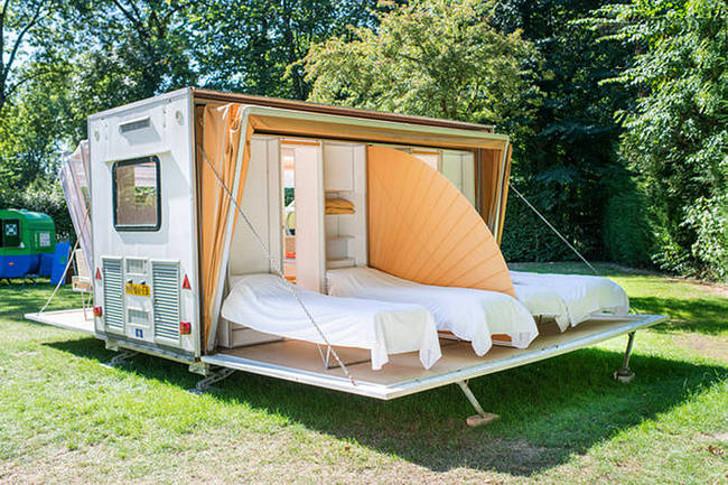 Une Caravane Qui Se D 233 Ploie Pour Tripler Son Espace Joli