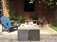Une parfaite table en béton pour donner de l'élégance à votre cour