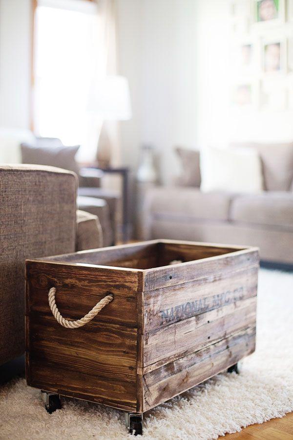 des fa ons inspirantes d 39 utiliser ses caisses en bois pour d corer sa maison joli joli design. Black Bedroom Furniture Sets. Home Design Ideas