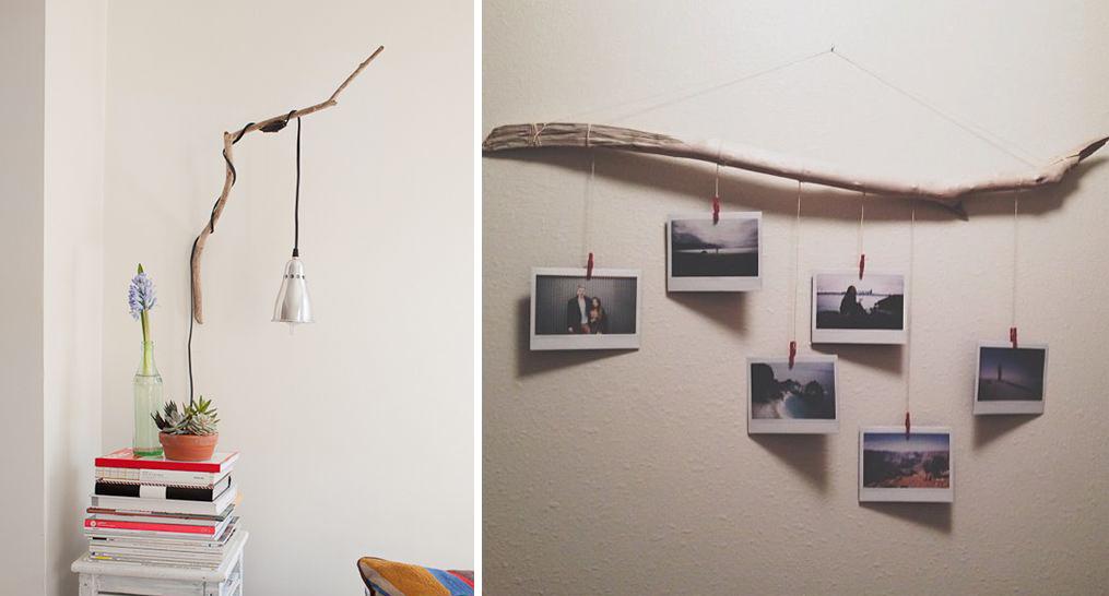 de jolies cr ations utilisant une branche d 39 arbre joli joli design. Black Bedroom Furniture Sets. Home Design Ideas