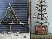 25 inspirations pour faire un sapin de noël avec des branches
