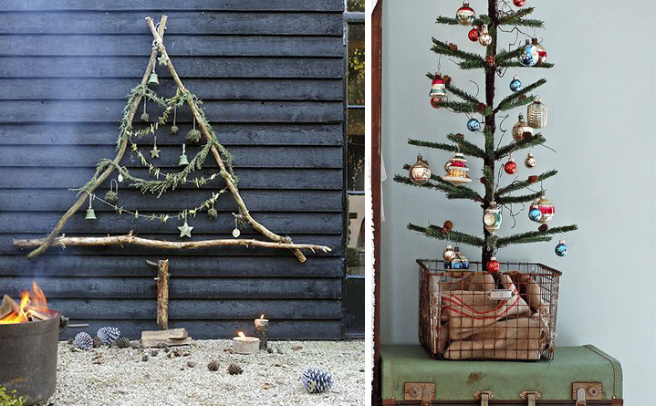 25 inspirations pour faire un sapin de no l avec des branches for Decoration du sapin de noel