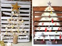 Faire un sapin de Noël en utilisant une palette