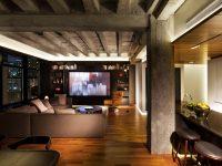 Un penthouse au chic dramatique par l'architecte montréalais Alain Carle