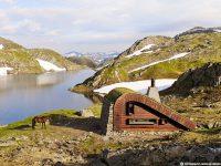 La cabine Field Fjord en Norvège accessible seulement à pied ou à cheval est l'endroit d'escapade par excellence!