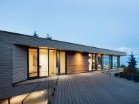 La résidence Altaïr : une maison en « V » complètement face au fleuve St-Laurent