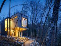 Cette spectaculaire maison au sommet d'une falaise située à Val-des-Monts