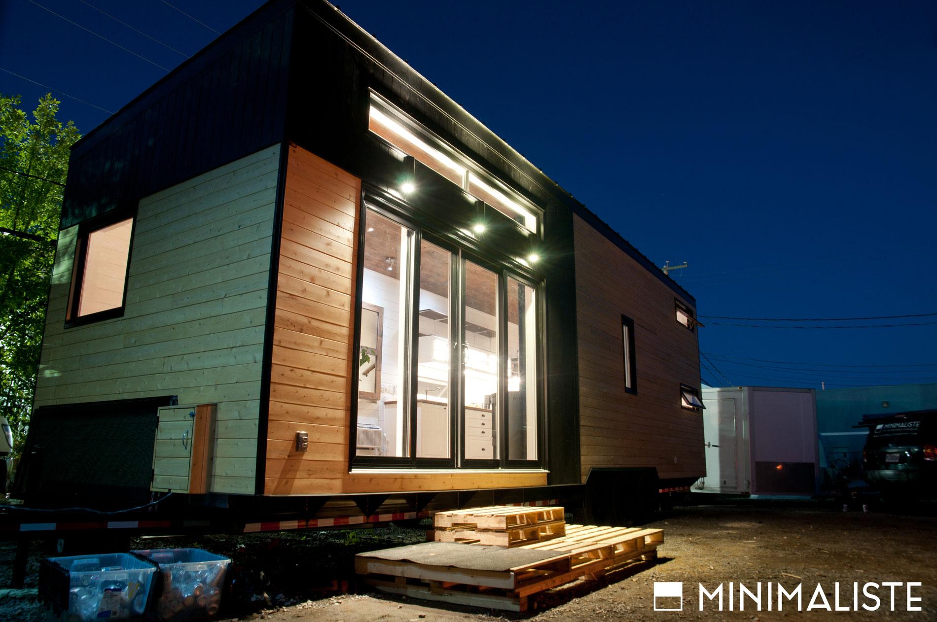 Le ch ne une jolie mini maison sur roues par l for Architecture quebecoise