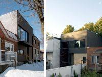 Transformation d'une résidence unifamiliale par la firme Microclimat (Avant-Après)