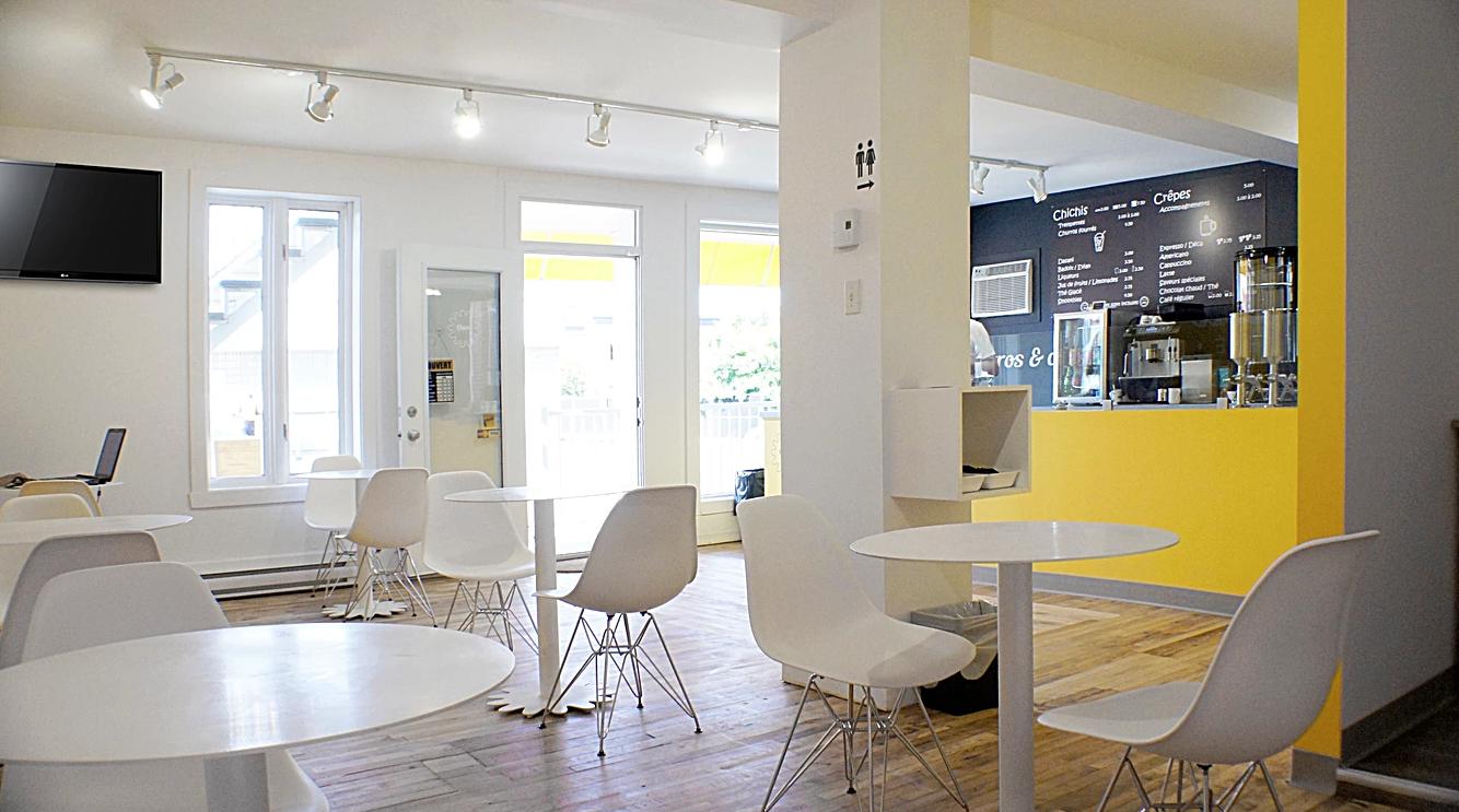 le chichi caf un design int rieur qui se d marque longueuil par klibi design joli joli design. Black Bedroom Furniture Sets. Home Design Ideas