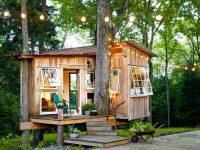 Un couple a transformé une cabane dans un arbre en mini-maison de rêve
