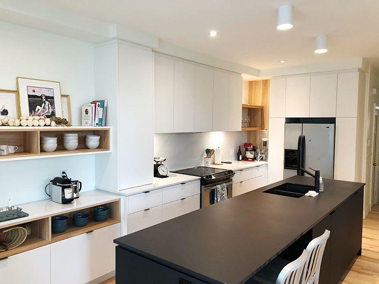 la nouvelle jolie cuisine de sarah jeanne labrosse est couper le souffle avant apr s joli. Black Bedroom Furniture Sets. Home Design Ideas
